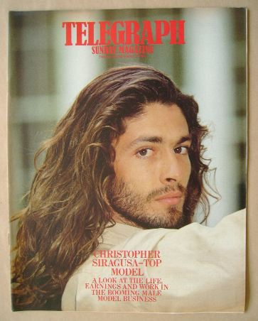 <!--1984-11-25-->The Sunday Telegraph magazine - Christopher Siragusa cover