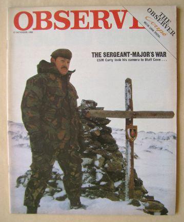<!--1982-10-17-->The Observer magazine - Company Sergeant-Major Charles Car