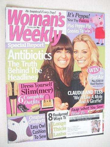 <!--2014-10-07-->Woman's Weekly magazine (7 October 2014 - Tess Daly and Cl