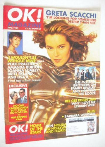 <!--1995-06-->OK! magazine - Greta Scacchi cover (June 1995)