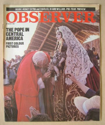 <!--1983-03-20-->The Observer magazine - Pope John Paul II cover (20 March