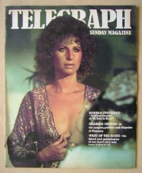 The Sunday Telegraph magazine - Barbra Streisand cover (20 March 1977)