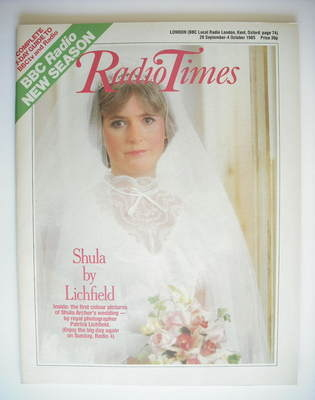<!--1985-09-28-->Radio Times magazine - Shula Archer cover (28 September -