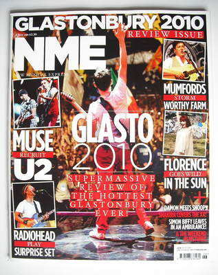 <!--2010-07-03-->NME magazine - Glastonbury 2010 (3 July 2010)