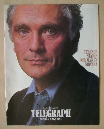 <!--1987-06-14-->The Sunday Telegraph magazine - Terence Stamp cover (14 Ju