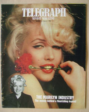 <!--1981-03-01-->The Sunday Telegraph magazine - Linda Kerridge as Marilyn