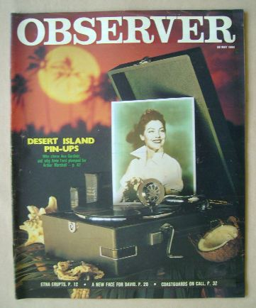 <!--1983-05-29-->The Observer magazine - Desert Island Pin-Ups cover (29 Ma