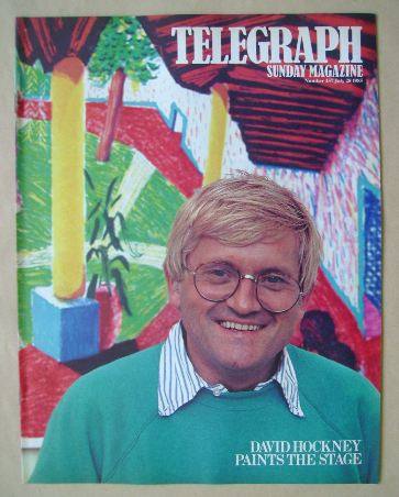 <!--1985-07-28-->The Sunday Telegraph magazine - David Hockney cover (28 Ju
