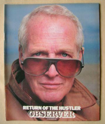 <!--1986-11-30-->The Observer magazine - Paul Newman cover (30 November 198