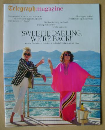 <!--2016-06-25-->Telegraph magazine - Joanna Lumley and Jennifer Saunders c