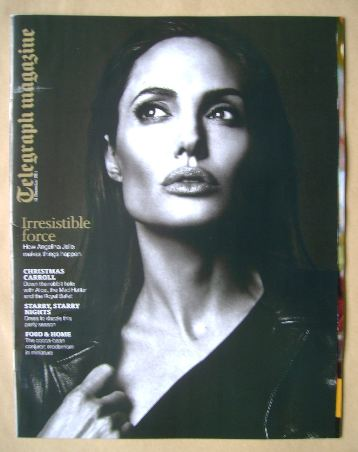 <!--2014-12-13-->Telegraph magazine - Angelina Jolie cover (13 December 201
