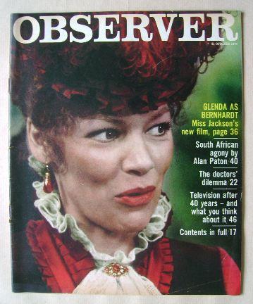 <!--1976-10-31-->The Observer magazine - Glenda Jackson cover (31 October 1
