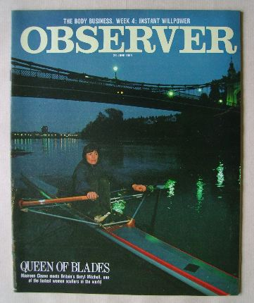 <!--1983-06-26-->The Observer magazine - Beryl Mitchell cover (26 June 1983