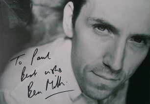 Ben Miller autograph (hand-signed photograph, dedicated)