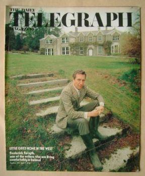 The Daily Telegraph magazine - Frederick Forsyth cover (9 April 1976)