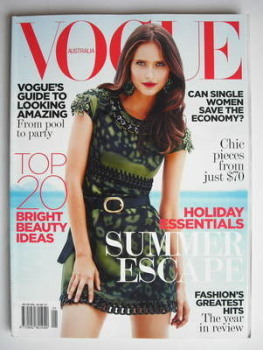 Australian Vogue magazine - January 2009 - Valerija Erokhina cover