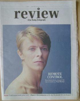 The Daily Telegraph Review newspaper supplement - 2 March 2013 - David Bowie cover