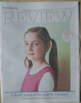 The Daily Telegraph Review newspaper supplement - 25 June 2016 - Alma Deutscher cover