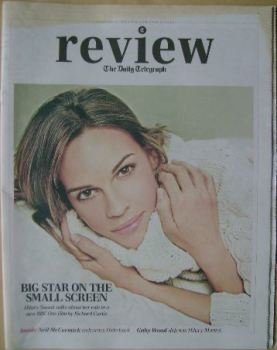 The Daily Telegraph Review newspaper supplement - 23 February 2013 - Hilary Swank cover