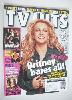 TV Hits magazine - April 2001 - Britney Spears cover