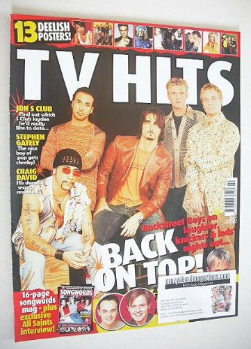 <!--2001-02-->TV Hits magazine - February 2001 - Backstreet Boys cover