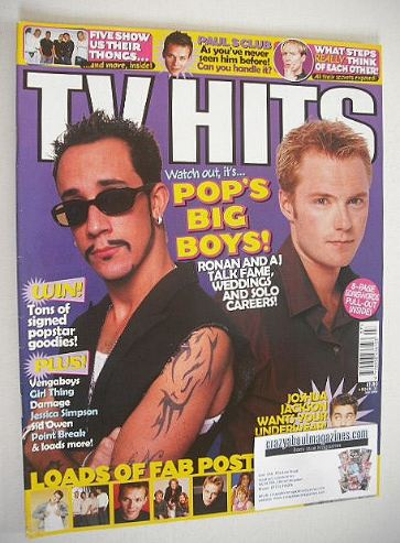 <!--2000-07-->TV Hits magazine - July 2000 - Ronan Keating and AJ McLean co