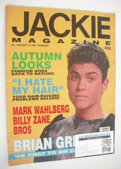 Jackie magazine - 21 September 1991 (Issue 1446 - Brian Green cover)