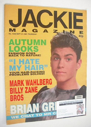 <!--1991-09-21-->Jackie magazine - 21 September 1991 (Issue 1446 - Brian Gr