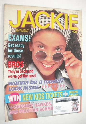 <!--1991-08-17-->Jackie magazine - 17 August 1991 (Issue 1441)