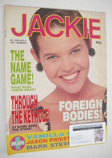 <!--1991-07-06-->Jackie magazine - 6 July 1991 (Issue 1435)