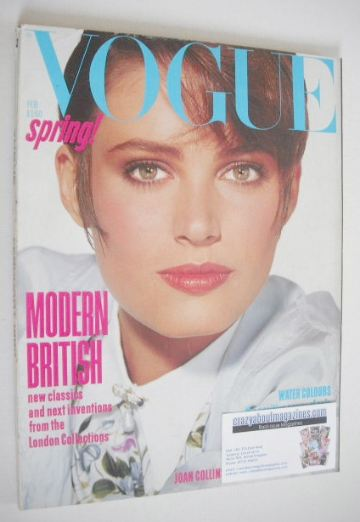 <!--1985-02-->British Vogue magazine - February 1985