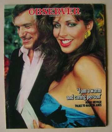 <!--1985-09-01-->The Observer magazine - Hugh Hefner and Karen Velez cover