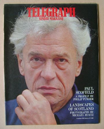 <!--1985-10-27-->The Sunday Telegraph magazine - Paul Scofield cover (27 Oc