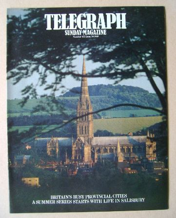 <!--1985-06-30-->The Sunday Telegraph magazine - Salisbury Cathedral cover