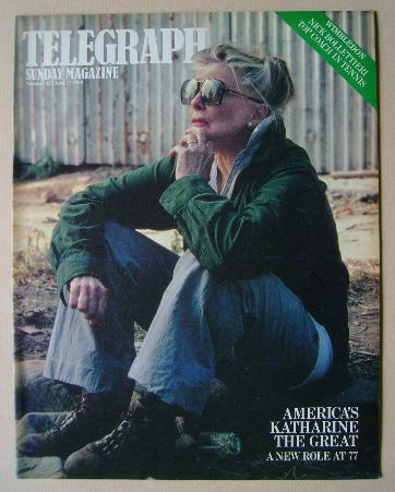 <!--1985-06-23-->The Sunday Telegraph magazine - Katharine Hepburn cover (2