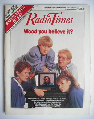 <!--1987-12-12-->Radio Times magazine - Celia Imrie, Julie Walters and Vict