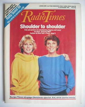 <!--1987-11-14-->Radio Times magazine - Sharon Gless and Tyne Daly (14-20 N