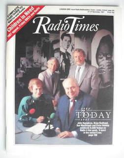 <!--1987-11-21-->Radio Times magazine - John Humphrys, Brian Redhead, Sue M