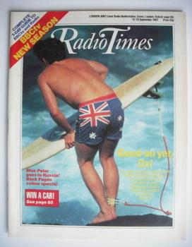 Radio Times magazine - Good On Yer Oz cover (12-18 September 1987)