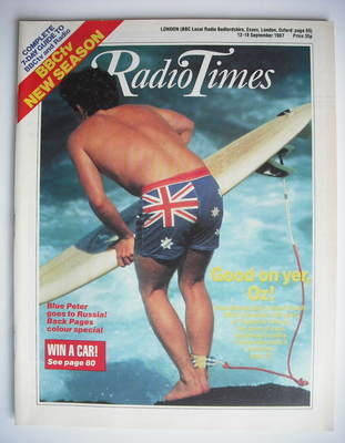 <!--1987-09-12-->Radio Times magazine - Good On Yer Oz cover (12-18 Septemb