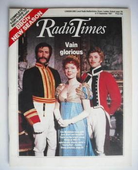 Radio Times magazine - Eve Matheson, Jack Klaff and Benedict Taylor cover (5-11 September 1987)