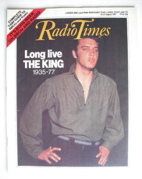 Radio Times magazine - Elvis Presley cover (15-21 August 1987)