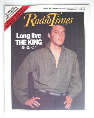 <!--1987-08-15-->Radio Times magazine - Elvis Presley cover (15-21 August 1