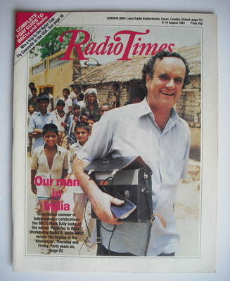<!--1987-08-08-->Radio Times magazine - Mark Tully cover (8-14 August 1987)