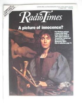 Radio Times magazine - Paul McGann cover (1-7 August 1987)