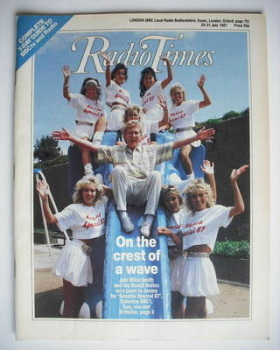 Radio Times magazine - Seaside Special '87 cover (25-31 July 1987)