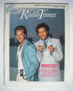 Radio Times magazine - Don Johnson and Philip Michael Thomas cover (18-24 July 1987)