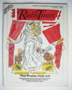 Radio Times magazine - The Proms Step Out cover (11-17 July 1987)