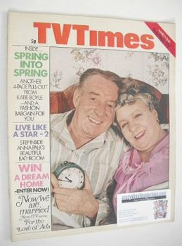 TV Times magazine - Wilfred Pickles and Irene Handl cover (13-19 March 1971)