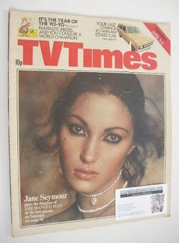TV Times magazine - Jane Seymour cover (5-11 April 1975)